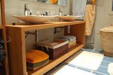 Comment fabriquer soi m me un meuble pour le lavabo - Comment faire une salle de bain pas cher ...