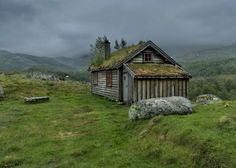 This very old farmhouse was moved to the Norwegian mountains nearly 100 years ago to serve as a summer farm. Two milkmaids lived in it a few weeks every summer when taking care of the cows that grazed in the mountains. It is now a holiday cottage. | Tiny Homes