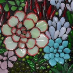 The individual pieces are kiln-worked and painted fusing glass. Stained Glass Projects, Stained Glass Patterns, Mosaic Patterns, Stained Glass Art, Mosaic Glass, Fused Glass, Mosaic Ideas, Valentine Doodle, Delphi Glass