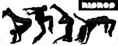 Hip Hop Dancers Silhouettes — Vector EPS #background #training • Available here → https://graphicriver.net/item/hip-hop-dancers-silhouettes/3414501?ref=pxcr