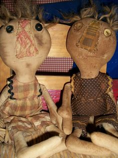 primitive doll patterns | Benji Button Rag Doll Primitive Pattern by polkadotpigprims