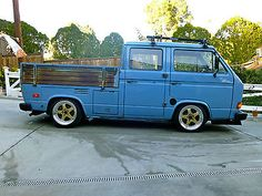 1982 VW DOKA VANAGON DOUBLE CAB TURBO DIESEL SLAMMED AND STANCED