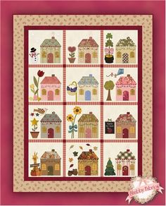 Country Cottages Pattern: Country Cottages was the first mystery BOM designed by Shabby Fabrics, and is now available as a full pattern set!