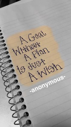 This quote is dumb but I sorta like the font...  A Goal without a plan is just a wish