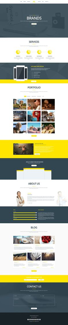 A great collection of Best single page website templates PSD from Professional designers worldwide, feel free to use them as you like.