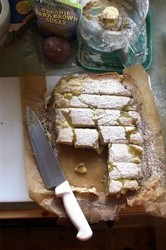 Scrumptiously rustic, completely delicious Gluten-free Lemon Bars. #food #bars #gluten_free #lemon #dessert #baking