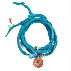 Turquoise encourages creativity. It is a color linked to the ocean. It is also associated with balance and emotional stability | Handmade copper & silk choose your mood wrap bracelet by Lifetherapy