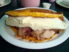 #Cachapita con queso de mano y pernil de Doña Inés (Las mejores).