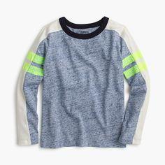 J.Crew - Boys' long-sleeve vintage jersey T-shirt with arm stripe