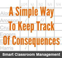 Smart Classroom Management: A simple Way To Keep Track Of Consequences