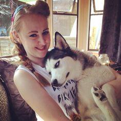 A girl & her Husky named Ruby! So sweet!!