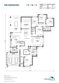 5 Bedroom House Plans, Family House Plans, Dream House Plans, House Floor Plans, Dream Houses, Home Design Floor Plans, Plan Design, House Layouts, House Layout Plans