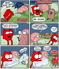 Heart and Brain wake up to a horrible monster