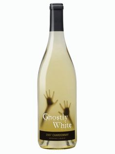 Ghostly White Chardonnay Halloween Wine - Decorations & Props