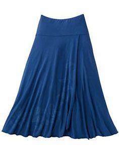 Women's Paisley Faux-Wrap Skirt   Sahalie