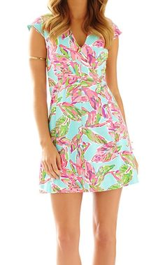 Lilly Pulitzer Briella Fit & Flare Cap Sleeve Dress in In The Vias