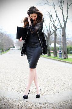 Un tubino in pelle per l'evento Jean Louis David - Irene's Closet - Fashion blogger outfit e streetstyle
