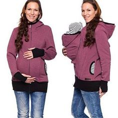 ac05f859f Parenting Child Winter Pregnant Women  S Sweatshirts Baby Carrier Wearing  Hoodies Maternity Mother Kangaroo Clothes