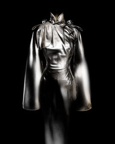 Jean Paul Gaultier (French, born 1952). Dress, autumn/winter 2001–2 haute couture. Gold lamé and blue silk mousseline. Courtesy of Jean Paul Gaultier   Photography © Platon #ChinaLookingGlass #AsianArt100
