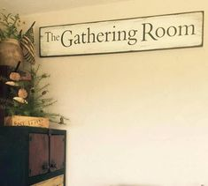 The Gathering Room sign Farmhouse sign by salmonfallsprims