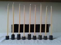 Black Rook taper holders in blackened recycled steel