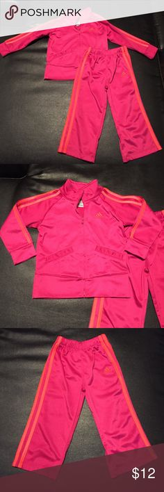 2 Piece Adidas Outfit This outfit has one or two very minor spots that you likely wouldn't have even noticed but I want to disclose them just in case you do 😊 No holes or rips. Adidas Matching Sets