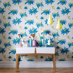 Fabulous Pearl / Teal Wallpaper by Graham and Brown
