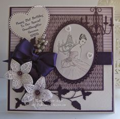 pamscrafts: Granddaughters 21st card and 5 draw chest.