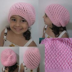 Crochet Hat - Squiggly Slouch Hat Tutorial (Toddler to Adult sizes)