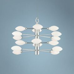 "$149 Four Tier 17"" Wide Oval Frosted Glass Pendant Light -"