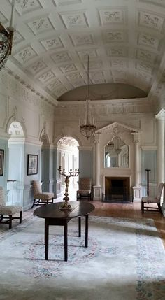 Gloster House and Gardens, Birr, Co. Offaly, Ireland, late 17th/early 18thC, with early-mid 18thC plasterwork.