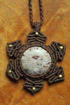 チャロアイトラズリ星ペンダント 六芒星 | Yuji macrame creations