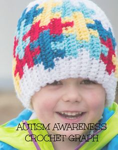 #Autism Awareness Puzzle Color Grid: #crochet pattern of grid only, for purchase