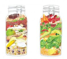 Illustration for recipe book by Rachel Morris illustrator
