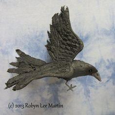 Primitive Crow Crow Doll Raven Blackbird Crow  by MotherlodeToad, $30.00