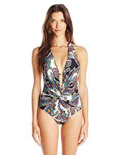 Kenneth Cole New York Women's Eclectic Adventure Plunge Twist Mio One Piece Swimsuit, Pea, Medium Kenneth Cole New York http://smile.amazon.com/dp/B00U2G2THY/ref=cm_sw_r_pi_dp_.BU8wb19KV311