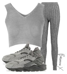 """Untitled #2909"" by breannamules ❤ liked on Polyvore featuring T By Alexander Wang, Glamorous and NIKE"