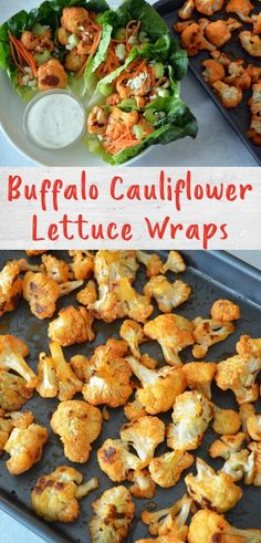 Buffalo chicken goes plant-based with these tasty buffalo cauliflower lettuce wraps. All your favorite buffalo wing flavors - buffalo sauce, celery, carrots and blue cheese - get wrapped up for a crowd-pleasing appetizer. Healthy Appetizers, Appetizer Recipes, Buffalo Recipe, Buffalo Cauliflower, Buffalo Wings, Game Day Food, Lettuce Wraps, Stop Eating, Home Recipes