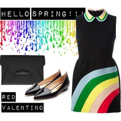 Hello Spring! by ildikos on Polyvore featuring RED Valentino, Rupert Sanderson, Givenchy and Pantene