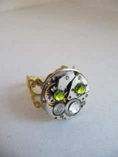 Steampunk Ring Watch Filagree Ring Steampunk by LuckySteamPunk, $24.00