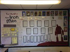 Iron Man by Ted Hughes Display Robot Classroom, Classroom Display Boards, Ks2 Classroom, Classroom Design, Classroom Displays, Iron Man Ted Hughes, Lron Man, Iron Man Art, The Iron Giant