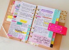Una de las herramientas de organización más importantes es una agenda. Si además se decora con washi tape, ¡mucho mejor!