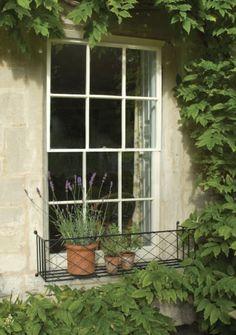 large iron window box
