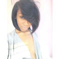 Pretty swoop <3 it - http://community.blackhairinformation.com/hairstyle-gallery/relaxed-hairstyles/pretty-swoop/ #swoopbang #bob #thecutlife