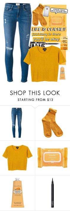 """🎵let's show them we are better🎵"" by rcl-chabria ❤ liked on Polyvore featuring Vans, Frame, Monki, Ole Henriksen, Crabtree & Evelyn and NARS Cosmetics"
