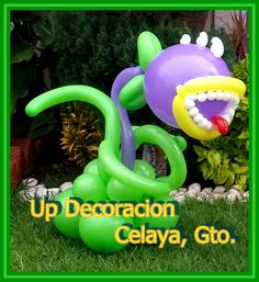 Planta Carnivora Kids Zombie Party, Zombie Themed Party, Zombie Birthday Parties, Plants Vs Zombies, Plant Zombie, Balloon Flowers, Balloon Animals, Meraki, Balloon Decorations