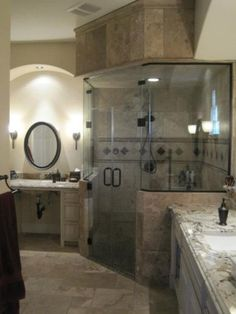 My steam shower, We converted this into a wheelchair accessible bathroom, roll in steam shower, Bathrooms Design