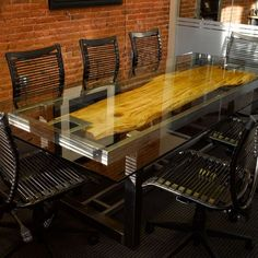 Custom Conference Table by Where Wood Meets Steel | CustomMade.com