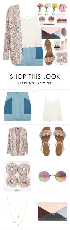 """1495. Welcome to Candyland"" by chocolatepumma ❤ liked on Polyvore featuring Topshop, Peony, ASOS, CÉLINE, NARS Cosmetics, Polaroid and Cotton Candy"