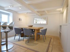 Sailfish Cottage, St Ives - Interior Design Project by Iroka.co  Calligaris BASIL Heigh Adjustable Stools with AMELIE Chairs